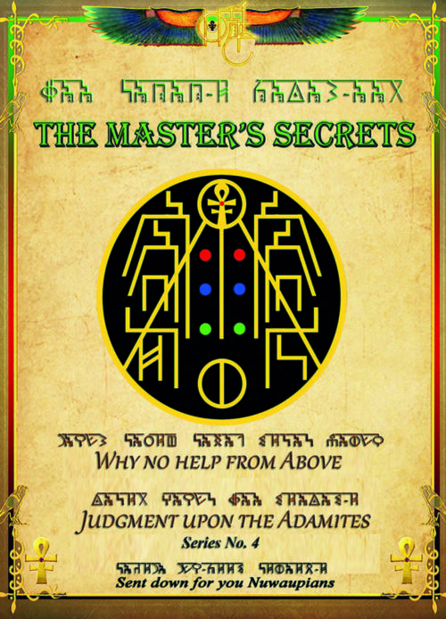 MASTER'S SECRETS 4: Why No Help From Above Judgement Upon The Adamites